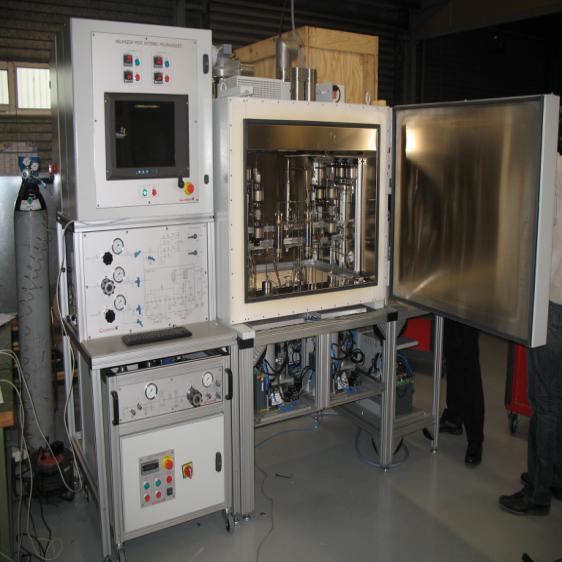岩石高温高压毛管压力与电阻率测试系统